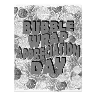 Thirtieth January - Bubble Wrap Appreciation Day Letterhead