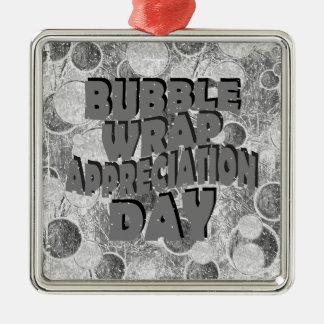 Thirtieth January - Bubble Wrap Appreciation Day Metal Ornament