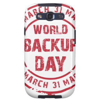 Thirty-first March - World Backup Day Galaxy SIII Cover