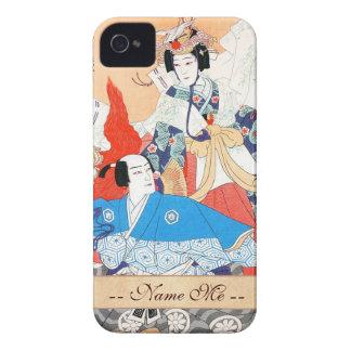 Thirty-six Kabuki Actors Portraits - Two Dancers iPhone 4 Case