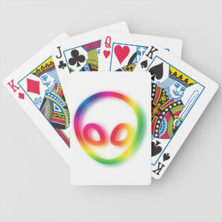 This Alien isn't Gray - its Hip ! Bicycle Playing Cards