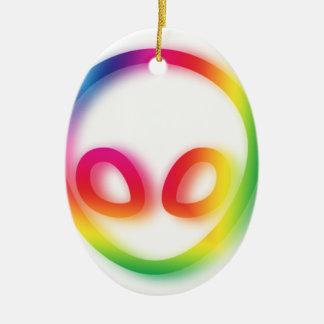 This Alien isn't Gray - its Hip ! Ceramic Ornament
