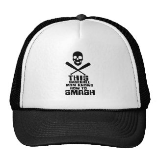 This Baseball Mom Knows How To Smash Great Gift Trucker Hat