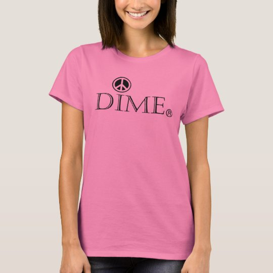 This beautiful woman soft cotton dime peace tee. T-Shirt