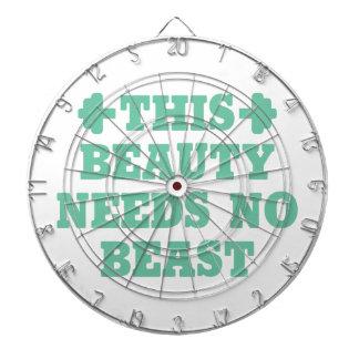 This Beauty Needs No Beast Dartboard