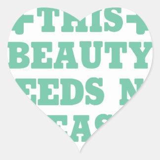 This Beauty Needs No Beast Heart Sticker