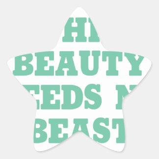 This Beauty Needs No Beast Star Sticker