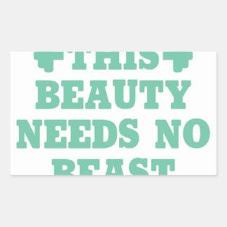 This Beauty Needs No Beast Sticker