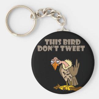 This Bird Don't Tweet Buzzard Cartoon Keychain