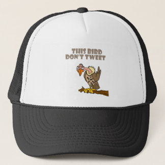 This Bird Don't Tweet Buzzard Cartoon Trucker Hat