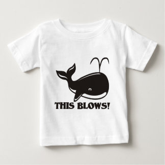 This Blows Whale Design Baby T-Shirt