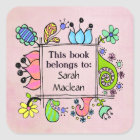 This Book Belongs To Book Name Plate Label Sticker