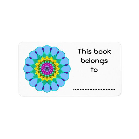 This Book Belongs To, Colourful Mandala Style
