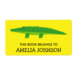 This book belongs to crocodile bookplate labels
