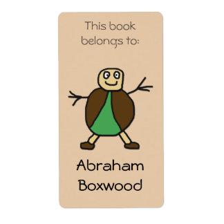 This Book Belongs To Custom Name Stick People