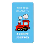 This book belongs to kids train bookplate labels