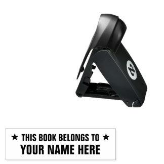 THIS BOOK BELONGS TO self inking pocket stamp