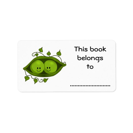 This Book Belongs To, Two Peas In A Pod