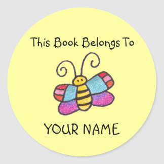 This Book Belongs To You! Round Sticker
