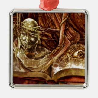 This Book Is Haunted Metal Ornament