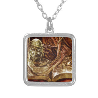 This Book Is Haunted Silver Plated Necklace