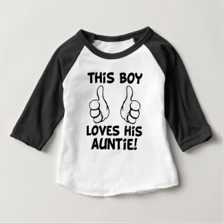 This Boy Loves his Auntie funny baby boy shirt