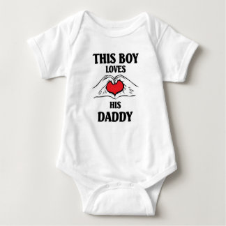 This boy loves his daddy baby bodysuit