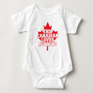 This Canadian Loves Running! Baby Bodysuit