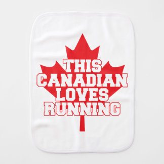This Canadian Loves Running! Burp Cloth