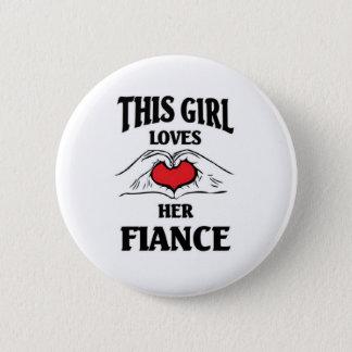 This child loves her Fiance 2 Inch Round Button