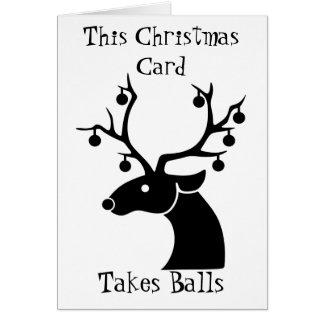 This Christmas Card Takes Balls