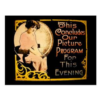 This Concludes Our Picture Program - Vintage Postcard