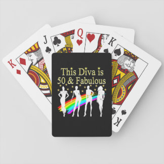 THIS DIVA IS 50 AND FABULOUS 50TH BIRTHDAY POKER DECK