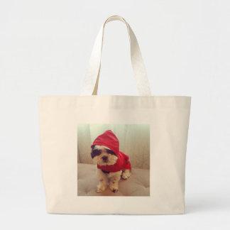 This dog hates rain large tote bag