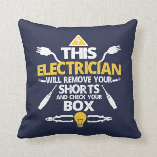 This ELECTRICIAN Throw Pillow