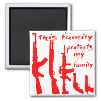 This Family Protects My Family Magnet