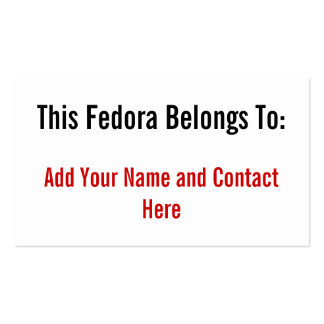 This Fedora Belongs To Pack Of Standard Business Cards
