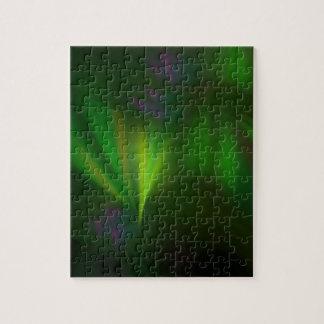 This fractal looks like aurora jigsaw puzzle