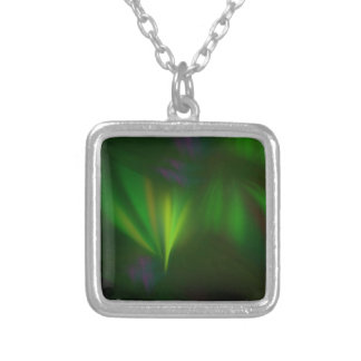 This fractal looks like aurora silver plated necklace