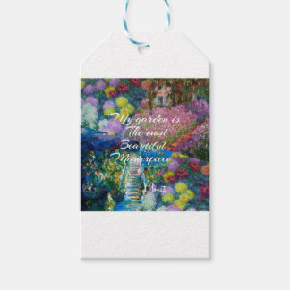 This garden is a masterpiece gift tags