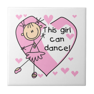 This Girl Can Dance T-shirts and Gifts Tiles