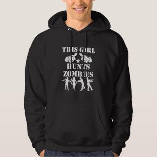 This Girl Hunts Zombies Hoodie