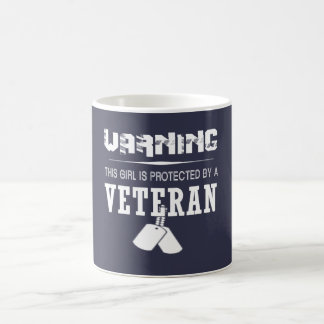 This Girl Is Protected By A Veteran Coffee Mug