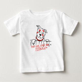 This girl love her pitbull baby T-Shirt