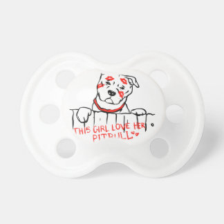 This girl love her pitbull pacifier