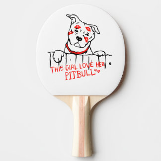 This girl love her pitbull ping pong paddle