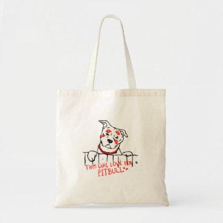 This girl love her pitbull tote bag