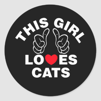 This Girl Loves Cats Classic Round Sticker
