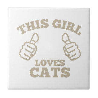 This Girl Loves Cats Tile