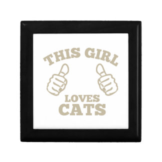 This Girl Loves Cats Trinket Box